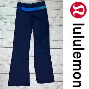 Lululemon Groove Pants Flair Reversible Blue Size 2 Yoga
